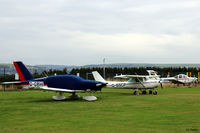 G-BSCP @ EGPN - Parked up with others at Dundee Riverside EGPN - by Clive Pattle