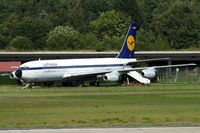 D-ABOD @ EDDH - Boeing 707-430 [17720] (Hamburg Airport Authority) Hamburg-Fuhlsbuettel~D 16/08/2013. Marked D-ABOB - by Ray Barber