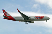 PT-MSW @ EGLL - Boeing 767-316ER [42213] (TAM Airlines) Home~G 04/08/2013. On approach 27L.