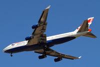 G-BNLZ @ EGLL - Boeing 747-436 [27091] (British Airways) Home~G 01/08/2013. On approach 27R.