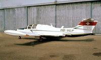 HB-VEP @ LSGG - HB-VEP   Morane-Saulnier MS.760 Paris I [098] Geneva~HB 09/09/1981. From a slide.