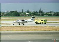 N117PA @ KSJC - N117PA called with an emergency landing with a landing gear issue - but no problem. San Jose Fire assisting 3 Engines. - by Tom Vance