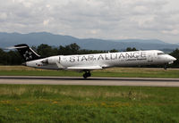 D-ACPT @ LFSB - Landing rwy 16 in Star Alliance c/s with 'Lufthansa Regional' titles - by Shunn311