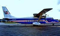 G-BLPY @ EKEB - Shorts 360-300 [SH3413] (Air UK) Esbjerg~OY 14/06/1985. From a slide.
