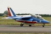 E165 @ LFOA - Dassault Dornier Alphajet (F-TERE), Athos 07 of Patrouille de France 2012, Avord Air Base 702 (LFOA) Open day 2012 - by Yves-Q