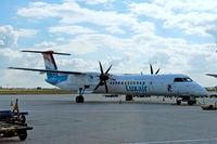 LX-LGE @ EDDF - de Havilland Canada DHC-8Q-402 [4284] (Luxair) Frankfurt~D 20/08/2013