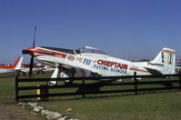 VH-BOY @ YSBK - CAC Mustang VH-BOY (ex RAAF A68-39) seen at Bankstown Airport during 1975