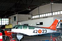 E24A-16 @ LEGT - Beech F33C Bonanza [CJ-114] (Spanish Air Force) Getafe AB~EC 20/09/2002 - by Ray Barber