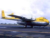 VH-IPB - Ipec Air Cargo Argosy at Essendon Airport Melbourne. Photo taken mid 1980's