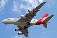 VH-OQE @ EGLL - Airbus A380-841 [027] (QANTAS) Home~G 05/06/2014. On approach 27R.