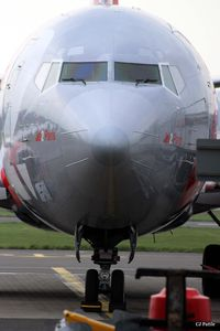 G-CELP @ EGPH - Close-up nose shot taken in the cargo area at Edinburgh EGPH - by Clive Pattle