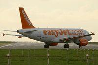 G-EZGC @ LFRB - Airbus A319-111,  Holding point rwy 25L, Brest-Bretagne Airport (LFRB-BES) - by Yves-Q