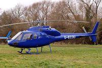 G-ECOU @ EGBC - Aerospatiale AS.355F2 Ecureuil II [5464] (Rulegate Ltd) Cheltenham Racecourse~G 13/03/2008