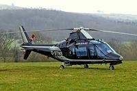 G-STNS @ EGBC - Agusta A.109A-2 [7324] (Heliflight UK Ltd) Cheltenham Racecourse~G 14/03/2008