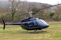 G-BUZZ @ EGBC - Agusta-Bell AB.206B Jet Ranger II [8178] (Rivermead Aviation Ltd) Cheltenham Racecourse~G 14/03/2008