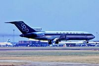 SX-CBC @ EGLL - Boeing 727-284  [20005] (Olympic Airways) Heathrow~G 01/07/1970. About to touch down 28R. From a slide.