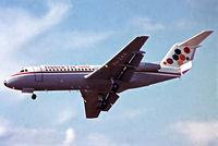 PH-ZAX @ EGLF - Fokker F-28-2000 Fellowship [11053] (Fokker-VFW) Farnborough~G 10/09/1972. From a slide.