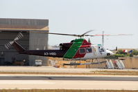 A7-HBD @ LMML - Bell-412EP A7-HBD Gulf Helicopters - by Raymond Zammit