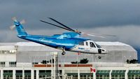 C-GHJW @ CBC7 - Helijet just departed Vancouver Harbour Heliport. - by M.L. Jacobs