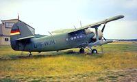 D-FWJH @ EDAZ - Antonov An-2T [1G142-33] Schonhagen~D 16/06/1992 - by Ray Barber