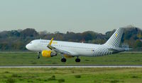 EC-LVO @ EDDL - Vueling Airlines, seen here smoothly touching down at Düsseldorf Int'l(EDDL) - by A. Gendorf
