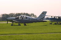 D-EVHM @ EDLE - Private (untitled), is here parked on the grass apron of the regional airport Essen / Mülheim(EDLE) - by A. Gendorf