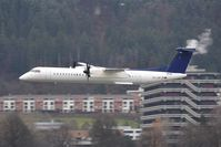 OE-LGR @ LOWI - delivery of the 18th Dash 8Q400 for Tyrolean Airways