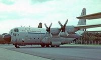 A97-168 @ EGVI - Lockheed C-130E Hercules [4148] (Royal Australian Air Force) RAF Greenham Common~G 27/06/1981. From a slide. - by Ray Barber
