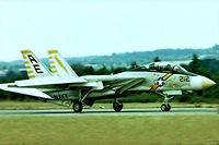 159449 @ EGVI - Grumman F-14A Tomcat [115] (United States Navy) RAF Greenham Common~G 01/08/1976. From a slide. - by Ray Barber
