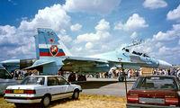 54 BLUE @ EGVA - Sukhoi Su-30 Flanker [96310104010] (Russian Air Force) RAF Fairford~G 19/07/1997