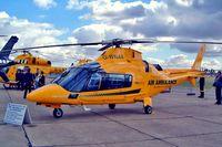G-WNAA @ EGSU - Agusta A-109E Power [11090] (Warwickshire and Northamptonshire Air Ambulance) Duxford~G 23/09/2003