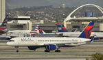 N695DL @ KLAX - Taxiing to gate after landing on 25L at LAX