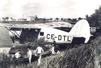 CF-DTL - CF-DTL    Red River (Winnipeg Manitoba) ...late 1940's out in front of Arnold Avenue. - by Allan Peden