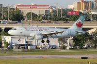 C-FZUJ @ FLL - Air Canada A319 - by Florida Metal