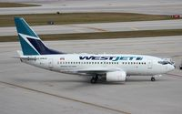 C-GWJU @ FLL - West Jet 737-600 - by Florida Metal