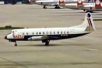 G-AVJB @ EGKK - Vickers 815 Viscount [375] (Intra Airways) Gatwick~G 05/04/1977. From a slide.