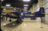 N100JE @ AZO - T-28 painted as Blue Angels - by Florida Metal