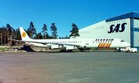 OY-KTF @ ESSA - Douglas DC-8-63F [46041] (Scanair) Stockholm-Arlanda~SE 09/06/1988. From a slide.