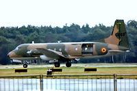 CS-03 @ EGLF - Avro 748 2A/288 LFD [1743] (Belgian Air Force) Farnborough~G 11/09/1976. From a slide.