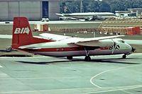 G-AVEZ @ EGKK - Handley-Page HPR.7 Herald 210 [169] (British Island Airways) Gatwick~G 01/07/1974. From a slide.
