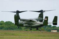 168284 @ LFRB - Presidential USMC Bell-Boing MV-22B Osprey (Code 02-cn D0201) on final to Rwy 25L Brest-Bretagne airport (LFRB-BES) - by Yves-Q