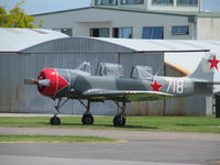 ZK-YAC @ NZTG - outside museum hangar - by magnaman