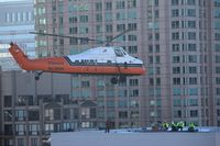 N129NH - Helicopter Lift, River North, Chicago, IL Jan 17th 2015 - by Heidi Enger