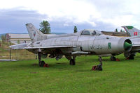 0109 @ LZPP - Mikoyan-Gurevich MiG-21F-13 Fishbed [460109] (Slovak Air Force) Piestany~OM 11/09/2007 Faded marks starboard side. Still wears Czech Air Force marks. - by Ray Barber