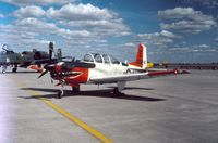 160524 @ CYMJ - Photo shows T-34C 160524 on display at the annual airshow at Canadian Forces Base Moose Jaw, Saskatchewan, Canada in 1985. - by Alf Adams