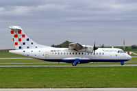 9A-CTT @ LOWW - Aerospatiale ATR-42-310 [317] (Croatia Airlines) Vienna-Schwechat~OE 13/09/2007 - by Ray Barber
