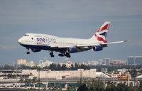 G-CIVK @ MIA - British One World 747-400