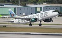 N203FR @ FLL - Frontier A320 Sally the Mustang