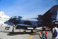 153512 @ CYED - Photo shows TA-4J 153512 on display at the annual airshow at Canadian Forces Base Edmonton (Namao), Alberta, Canada in 1986. - by Alf Adams