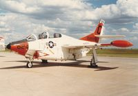 158888 @ CYMJ - Photo shows T-2C Buckeye 158888 on display at the annual airshow at Canadian Forces Base Moose Jaw, Saskatchewan, Canada in 1986. - by Alf Adams